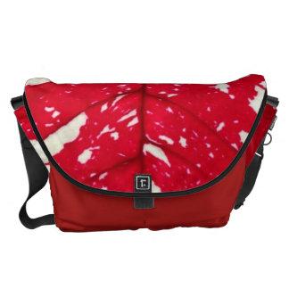 Poinsettia Leaf Texture Messenger Bag