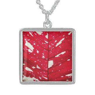 Poinsettia Leaf Texture Necklace