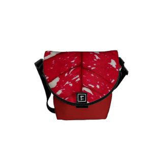 Poinsettia Leaf Texture Small Messenger bag