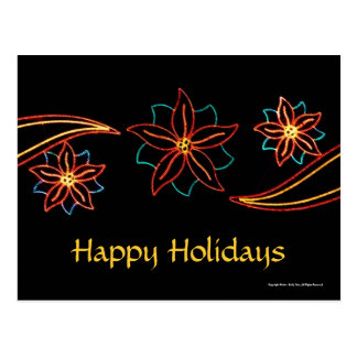 Poinsettia Lights Post Card