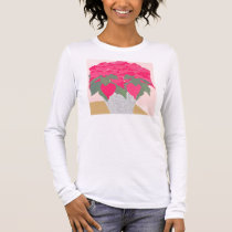 Poinsettia long-sleeve blouse long sleeve T-Shirt