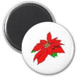Poinsettia Magnet for Christmas