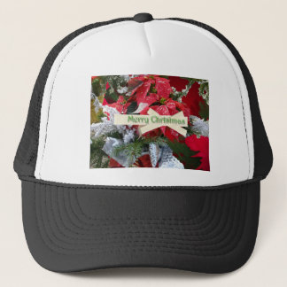 Poinsettia Merry Christmas Hat
