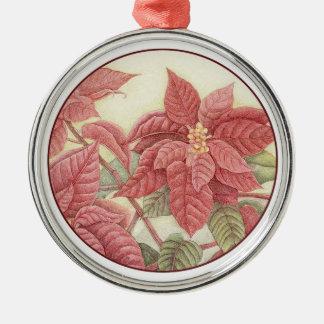 Poinsettia Metal Ornament