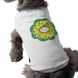 POINSETTIA MODERNO en AMARILLO Camisetas De Mascota
