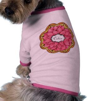 POINSETTIA MODERNO en ROSA Camisa De Mascota