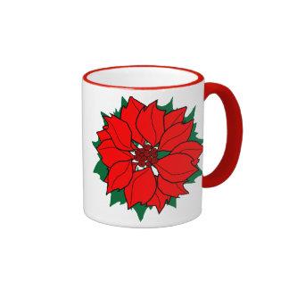 Poinsettia Mugs
