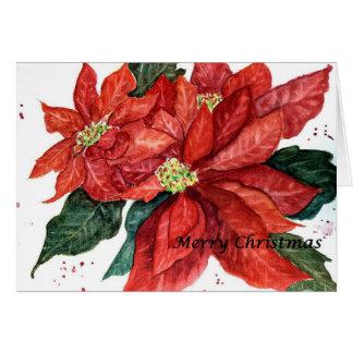 Poinsettia Note card