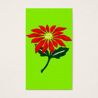 Poinsettia Painting Business Card