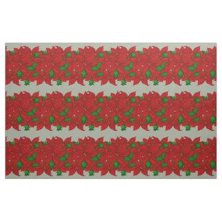 Poinsettia Pattern Fabric
