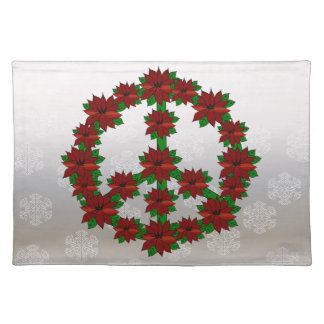 Poinsettia Peace Sign Placemat