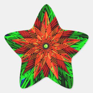 Poinsettia (pegatinas de la forma de la estrella)