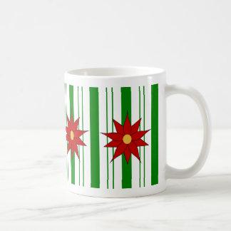 Poinsettia Peppermint Stick Coffee Mug