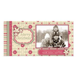 Poinsettia Photo Card