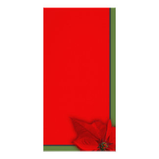 Poinsettia Personalized Photo Card