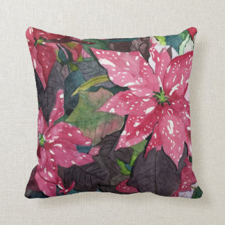 Poinsettia Throw Pillows