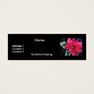 Poinsettia Profile Card