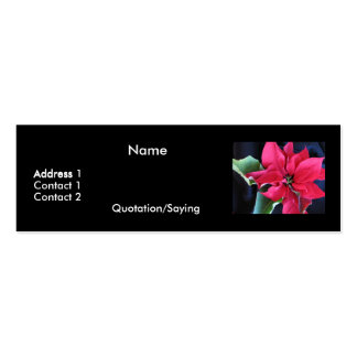 Poinsettia Profile Card Double-Sided Mini Business Cards (Pack Of 20)
