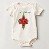 Poinsettia Psalm 148 Baby Bodysuit