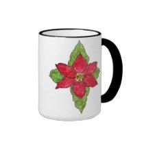 Poinsettia Psalm 148 Mug