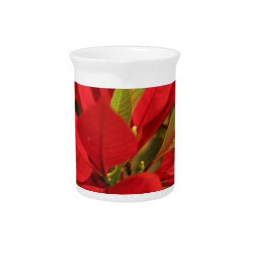 Poinsettia rojo jarras de beber