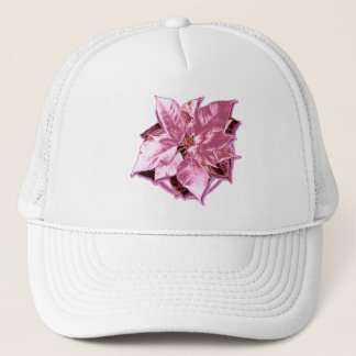 Poinsettia Rose chic cap