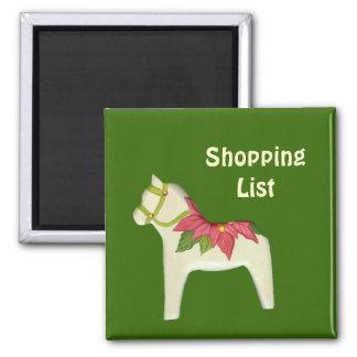 Poinsettia Shopping List Magnet