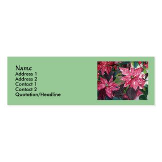 Poinsettia Slim Business Cards