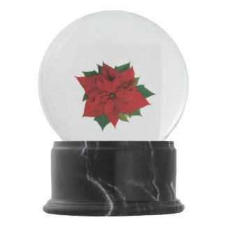 Poinsettia Snow Globes