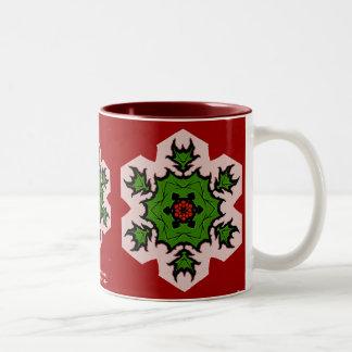 Poinsettia Snowflake Mug