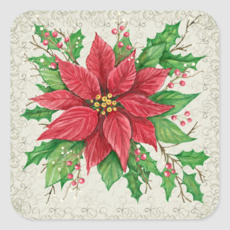Poinsettia Sticker - SRF