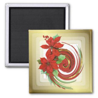 Poinsettia Swirl Magnet