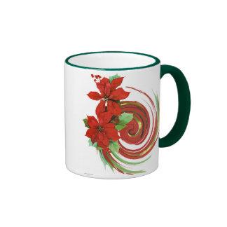 Poinsettia Swirl Mugs