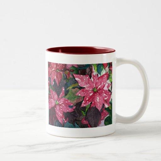 Poinsettia Taza Dos Tonos