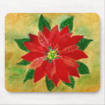 Poinsettia Watercolor Mousepad