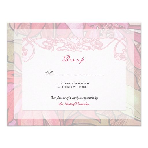 wedding invitation rsvp response cards x 5 5 invitation