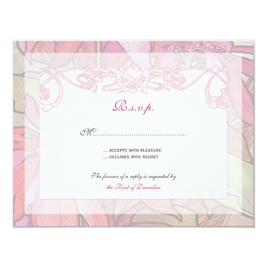 Poinsettia Wedding Invitation Rsvp Response Cards