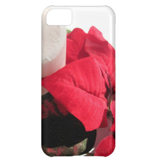Poinsettia with Candle iPhone 5C Cover