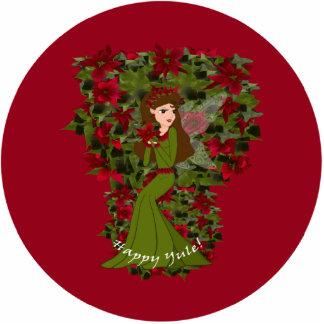 Poinsettia Yule Faery Ornament