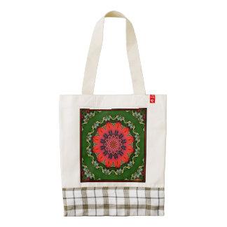 Poinsettia Zazzle HEART Tote Bag