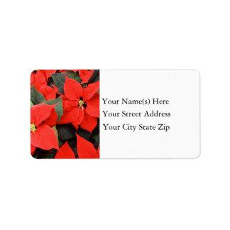 Poinsettias Address Label