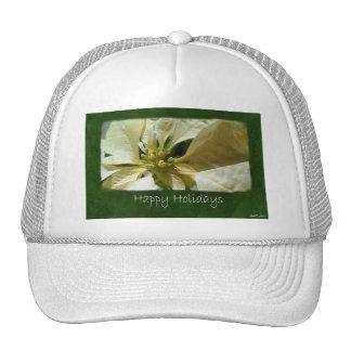 Poinsettias amarillos 1 - buenas fiestas gorras de camionero