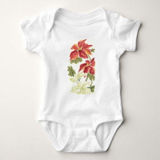 Poinsettias Baby Bodysuit