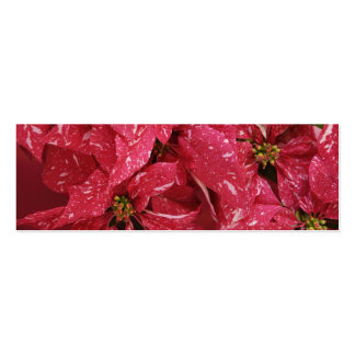 poinsettias bookmark Double-Sided mini business cards (Pack of 20)