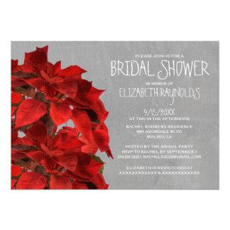 Poinsettias Bridal Shower Invitations Personalized Invitation