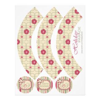 Poinsettias Cupcake Wrapper A2 Full Color Flyer