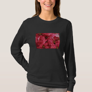 poinsettias dark t-shirt