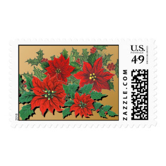 Poinsettias Holiday POSTAGE STAMPS