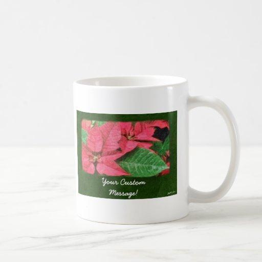 Poinsettias rosados 4 Painterly Taza