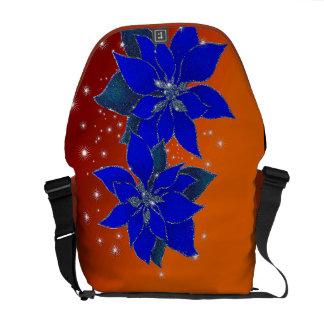 Poinsettias scintillating of Christmas Courier Bag